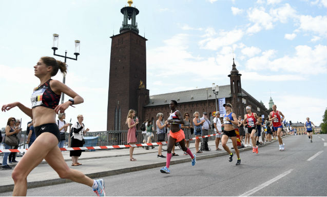 Extra showers to cool Stockholm Marathon runners