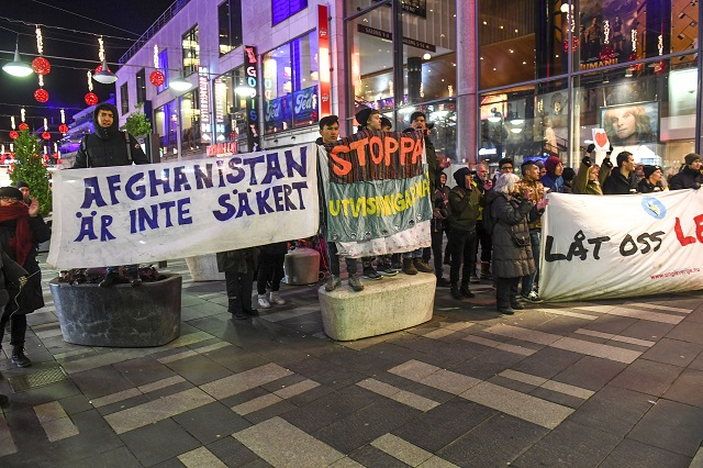Swedish student's protest puts issue of Afghan deportations into the spotlight