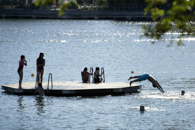 More high temperatures on the way to Sweden