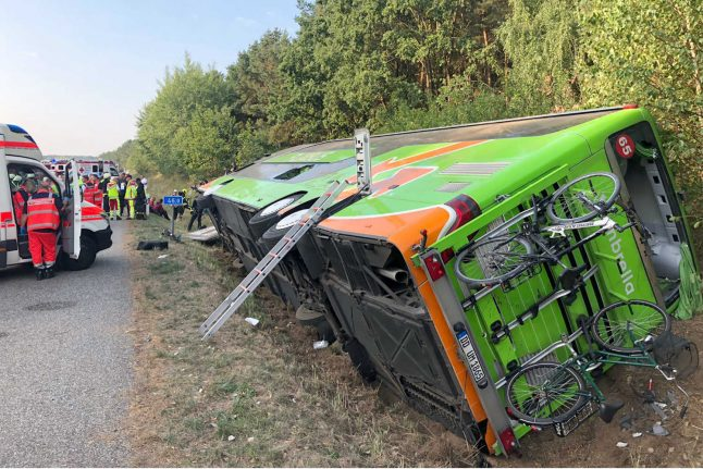 Update: 16 injured after Flixbus travelling from Stockholm to Berlin tips over in crash
