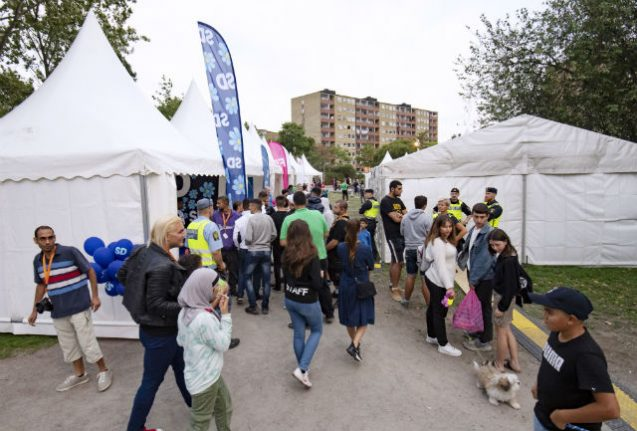 Sweden's parties fight for immigrant vote at 'Malmedalen' festival
