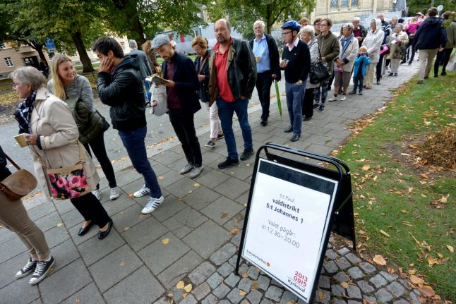 Turnout up in Swedish election