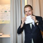 Green Party co-leader Gustav Fridolin voted in Malmö before election day.Photo: Johan Nilsson/TT
