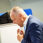 Left Party leader Jonas Sjöstedt voted before election day in Alby, south of Stockholm.Photo: Maja Suslin/TT
