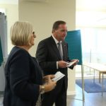 Prime Minister Stefan Löfven and his wife Ulla voted in parliament.Photo: Sören Andersson/TT