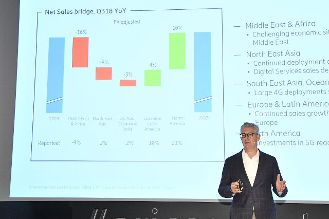 Ericsson turns first net profit in more than two years