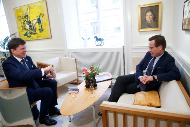 Sweden's centre-right leader asked to form a government (or at least give it his best shot)