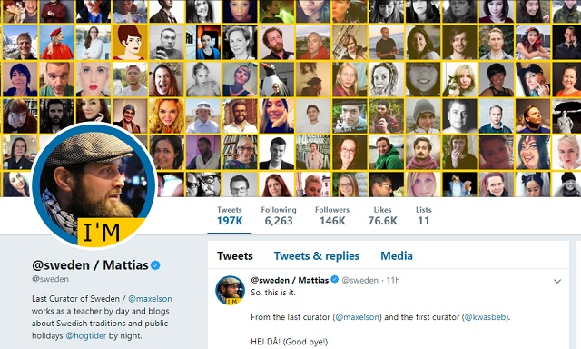 Sweden says final goodbye to official country Twitter account