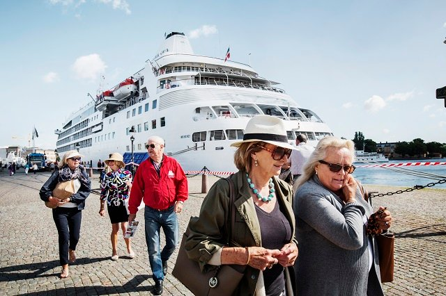 Record number of cruise ship tourists visited Stockholm this summer