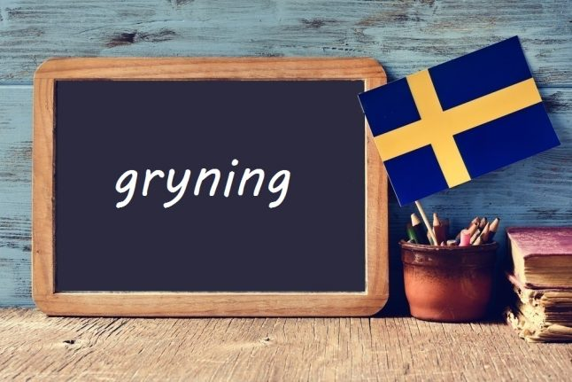Swedish word of the day: gryning