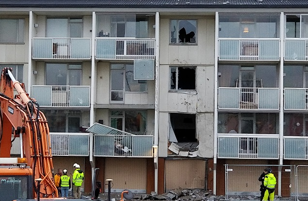 Three Stockholm apartments destroyed in building site blast