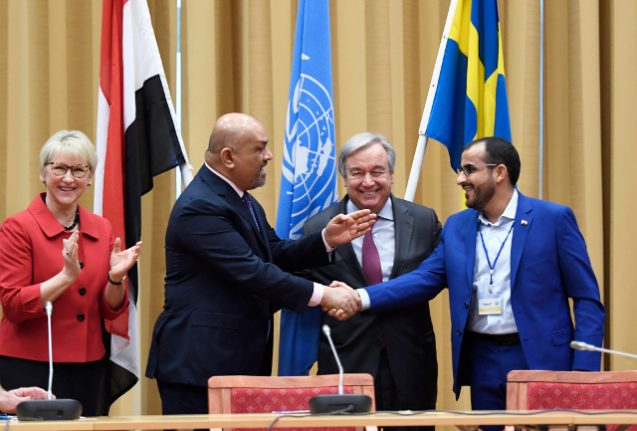 Ceasefire for key Yemen port agreed at peace talks in Sweden: UN