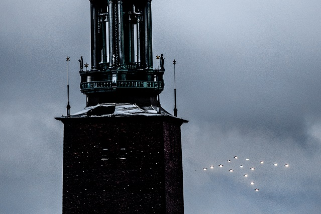 Why you might just see a flying Christmas tree in Sweden's skies
