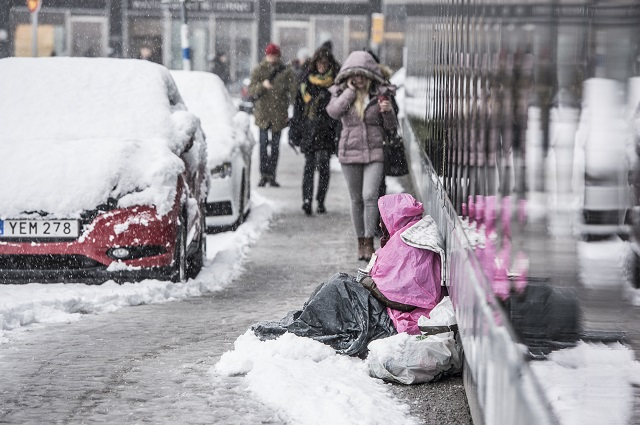 Sweden's first begging ban comes into force