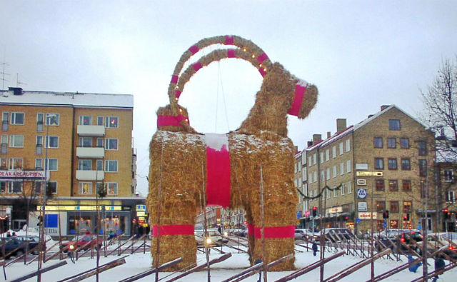 Will the world-famous Gävle yule goat survive this year?