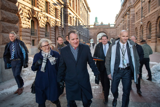 How did Stefan Löfven secure a second term as PM against all odds?