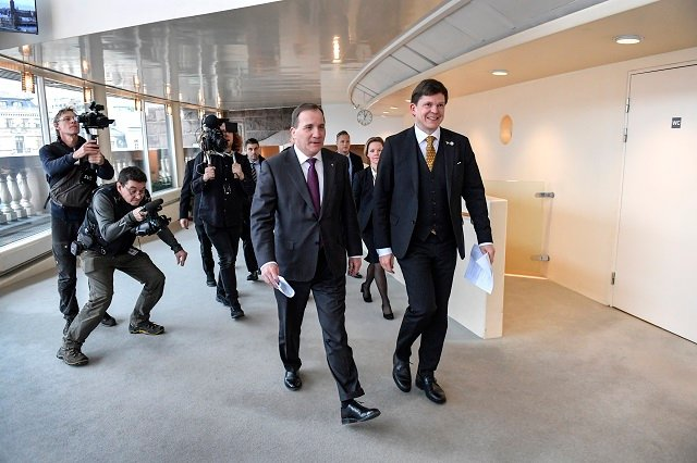 Stefan Löfven expected to be voted back in as Swedish prime minister