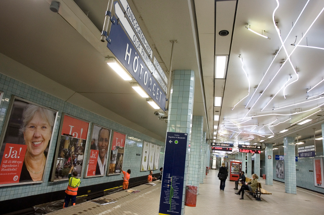 Pregnant woman taken to hospital after clash with Stockholm metro security guards