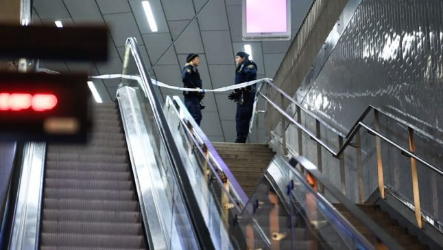 Man shot dead at busy Stockholm train station
