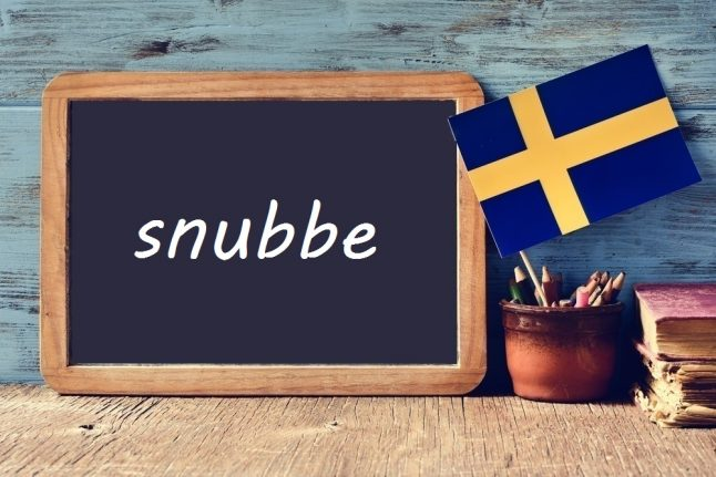 Swedish word of the day: snubbe