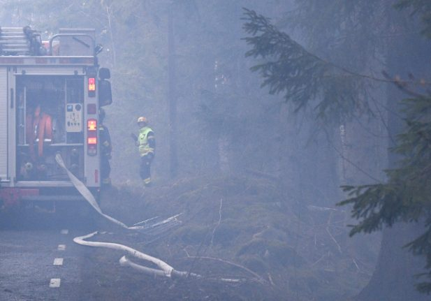 Homes evacuated as firefighters battle wildfires in southern Sweden