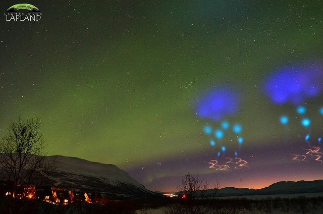 IN PICTURES: Spectacular light display in skies above northern Sweden
