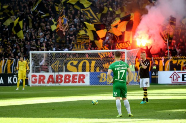 Fights, riots and smoke bombs mar Swedish football derby