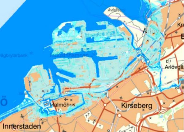 Climate change could put Malmö's harbour underwater by 'end of century'