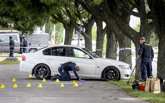 One shot dead outside shopping mall in central Sweden