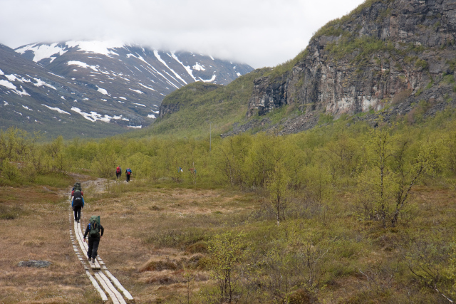 Swedish mountain rescue teams help hikers stranded in the fog