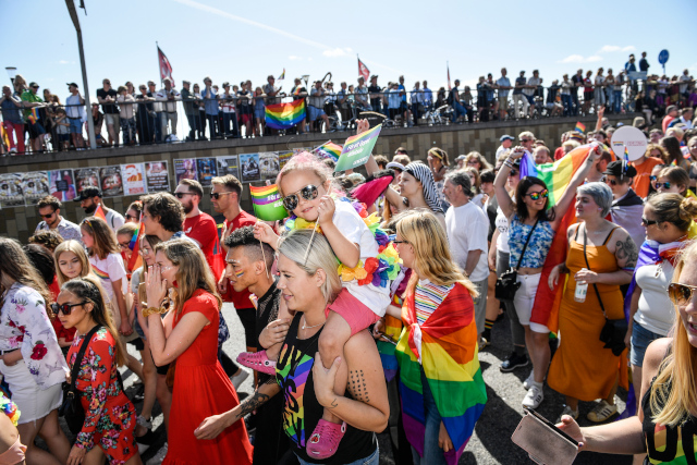 In Pictures: Tens of thousands turn out for Stockholm Pride parade