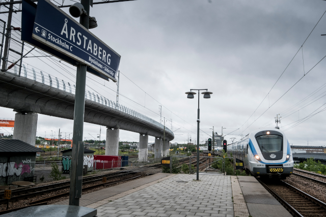 Train delays in Stockholm after accident