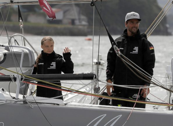 Greta Thunberg's yacht expected to arrive in New York tomorrow