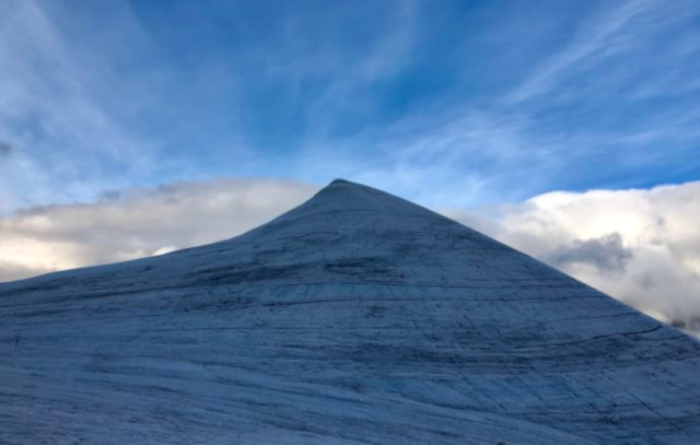 Sweden's formerly highest peak melts to lowest point ever