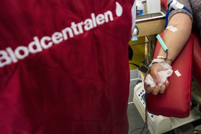 The regions in Sweden with high age limits for blood donors – and those with no limit at all