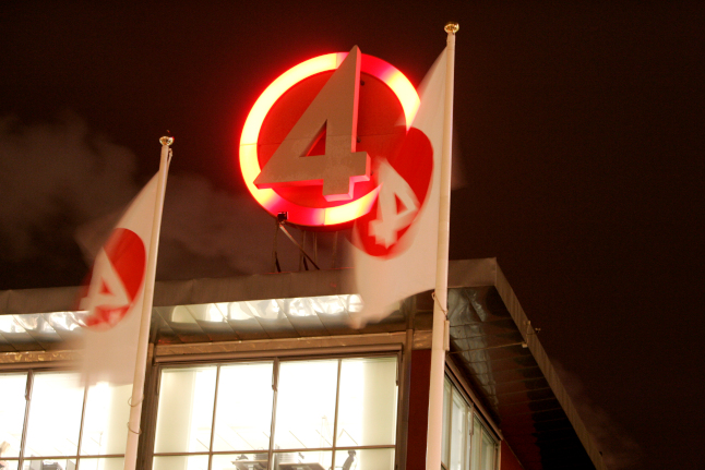 Why did several Swedish TV channels go off air at midnight?