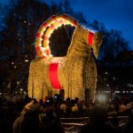 Gävle's ill-fated Christmas goat survives as smaller sibling burns
