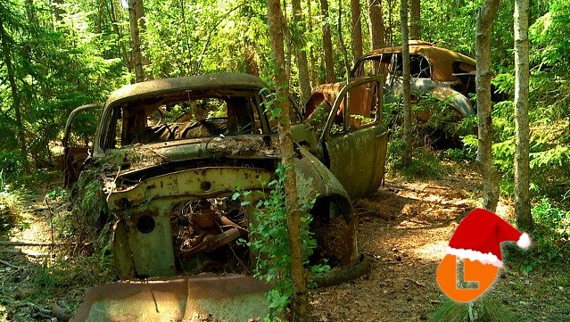 #AdventCalendar: The abandoned spots across Sweden where cars find their final resting place