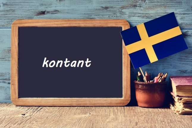 Swedish word of the day: kontant