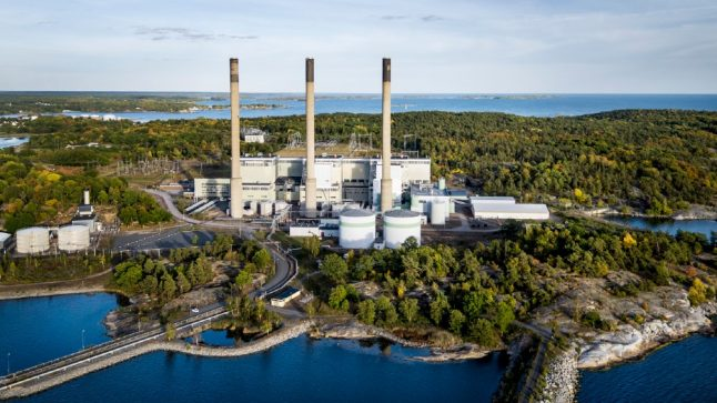 Why did Sweden's oil power plant start up in the middle of summer?