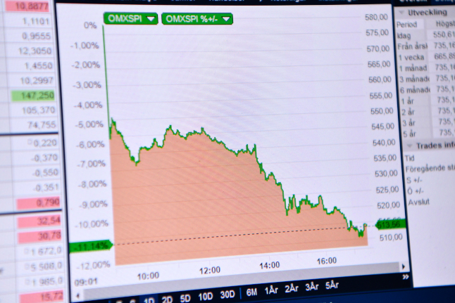 Stockholm stock market for the first time back in positive for the year