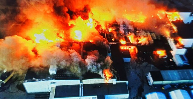 Iconic bread factory gutted in devastating fire in northern Sweden