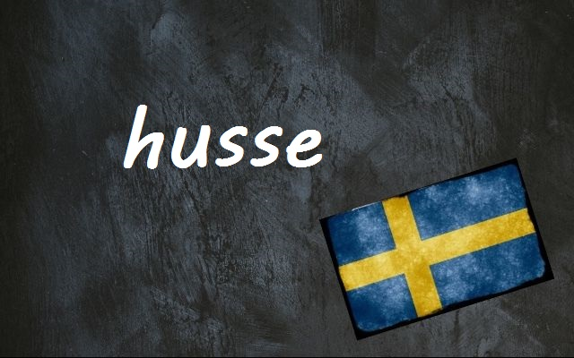 Swedish word of the day: husse
