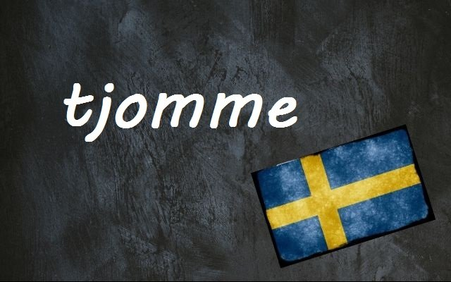 Word of the day: tjomme
