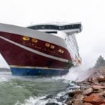 Grounded Finland ferry refloated and heading back to port