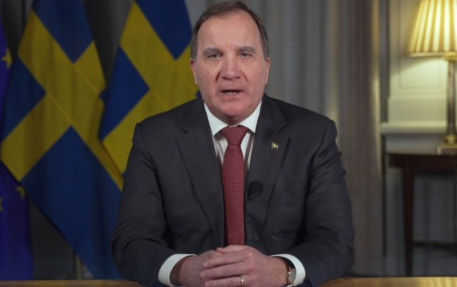 In English: Prime Minister Stefan Löfven's televised speech to the nation