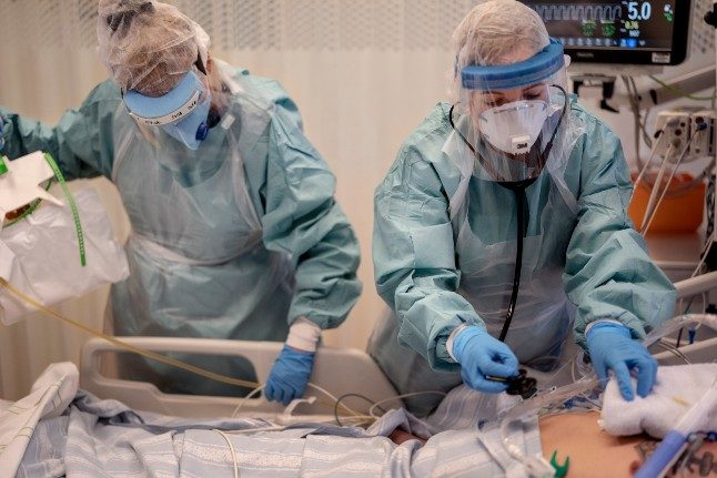 Is the second wave overloading Sweden's intensive care units?