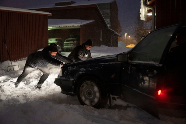 Nine pictures that show how the blizzard swept through Sweden