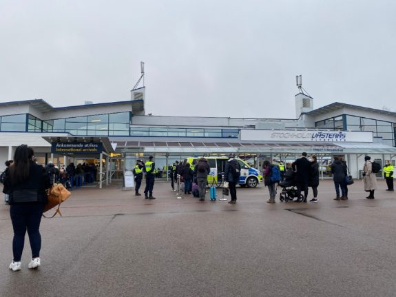 Passengers arriving into Sweden from UK without Covid tests refused entry