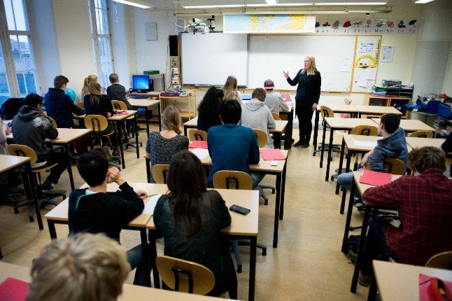 Which students will be taught remotely in Sweden when school starts?